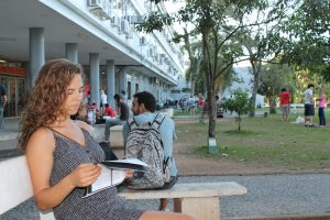 Studying at the Universidade Federal de Santa Catarina, Florianopolis, Brazil
