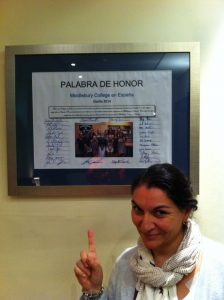 Signed Language Pledge at the Middlebury School in Spain