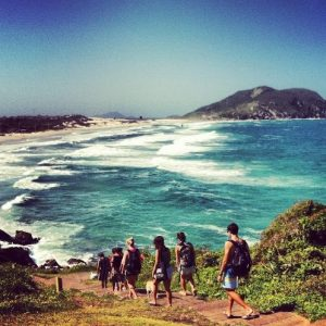 Students Hiking, Floripa, Brazil